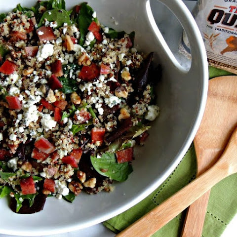 Bacon Blue Cheese Quinoa Salad {Gluten Free}