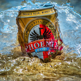 Phoenix on the Beach by Steve Bennett - Food & Drink Alcohol & Drinks ( beer, wave, sea, summer, beach, phoenix )