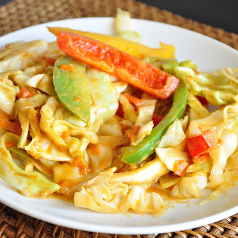 Cabbage Peanut Stir Fry