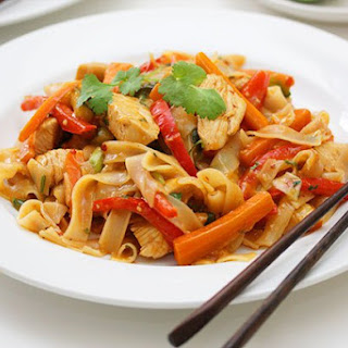 Vietnamese Chicken Stir Fry with Rice Noodles