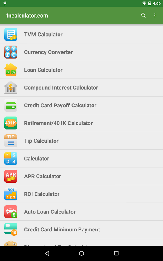 Financial Calculators Pro Screenshot 16