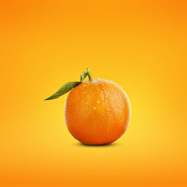 Orange by Rivo Rareano - Digital Art Things ( orange, fruits, composition, oranges, yellow )
