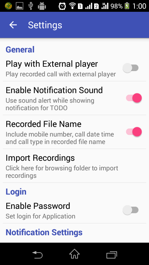 Call Recorder for Android[PRO] Screenshot 3
