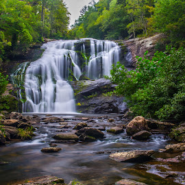 Bald River Falls by Ron Weaver - Landscapes Waterscapes ( blue ridge ga. trip )