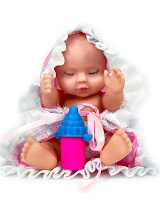 """Пупс """"Anna De Wailly"""" Спящий розовый в шаре"""