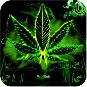 Neon Weed Keyboard Theme For PC / Windows 7/8/10 / Mac – Free Download