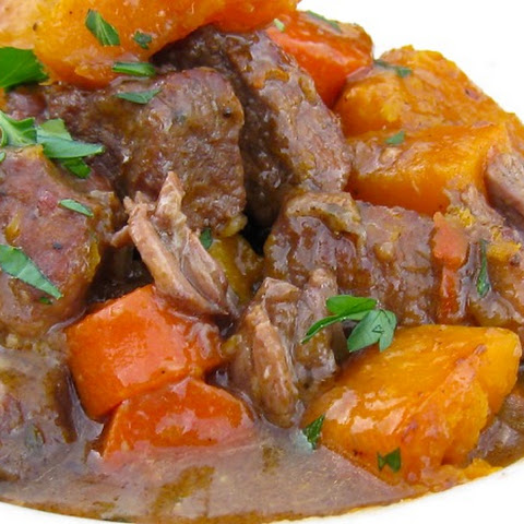 Blood Orange Beef Stew with Butternut Squash