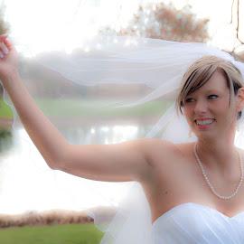 Bridal Veil by Carter Keith - Wedding Bride ( wedding gown, wedding, scenic, veil, bride )