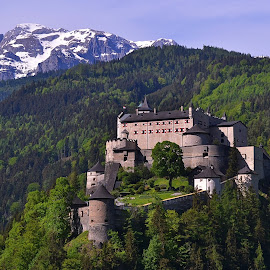 Hohen Werfen by Abhinav Ganorkar - Buildings & Architecture Public & Historical ( palace, mountains, castle, bavaria, germany, hills )
