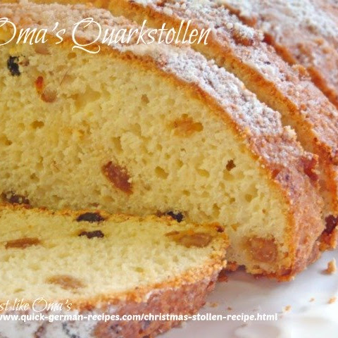 Christmas Stollen Recipe ~ Oma's Quarkstollen