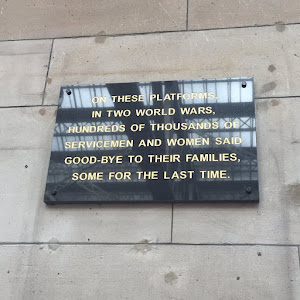 ON THESE PLATFORMS, IN TWO WORLD WARS HUNDREDS OF THOUSANDS OF SERVICEMEN AND WOMEN SAID GOOD-BYE TO THEIR FAMILIES, SOME FOR THE LAST TIME. Submitted by @macfarlaine