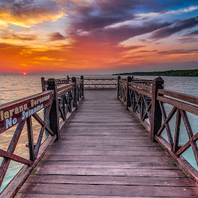 sunset, Tanjung Piai, Johor, National Park, by Fairuzee Ramlee - Landscapes Sunsets & Sunrises