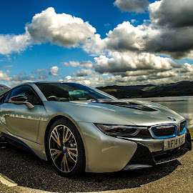 i8 At Lochcarron by Peter Bartlett - Transportation Automobiles ( scottish highlands, loccarron, i8, bmw, car. )
