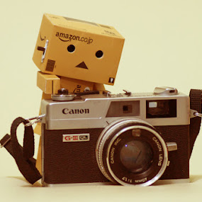 Danbo Photographer by Joseph Basukarno - Artistic Objects Toys ( danbo, still life, toys )