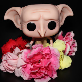 RIP Dobby by Liz Granholm - Artistic Objects Toys ( dobby, house elf, art, harry potter, black )