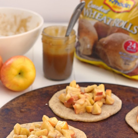 Mini Caramel Apple Dessert Pizzas