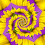 Healing Properties by Shaun White - Abstract Patterns ( abstract, purple, sunflower, yellow, flower, color,  )