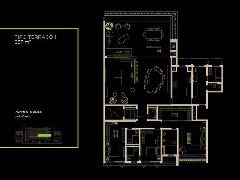 Apto Tipo (22B) - 257 m²