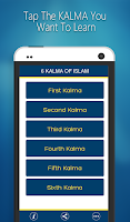 Screenshot of 6 Kalma of Islam