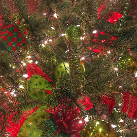 Christmas tree lights by Patti Pappas - Public Holidays Christmas ( michigan, chrismas, christmas tree, decorations, frankenmuth, ornaments )