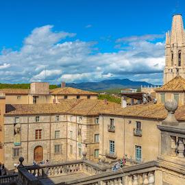 escaleras catedral de Girona by Roberto Gonzalo Romero - City,  Street & Park  Vistas ( girona, catedral )