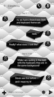 2 (FREE)GO SMS BLACK&WHITE THEME App screenshot
