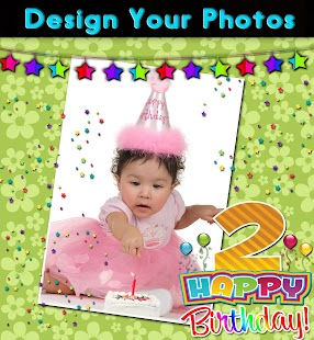 Birthday Frames and Labels - screenshot