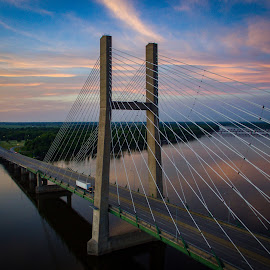 Great River Bridge  by Joshua Wagler - Buildings & Architecture Bridges & Suspended Structures