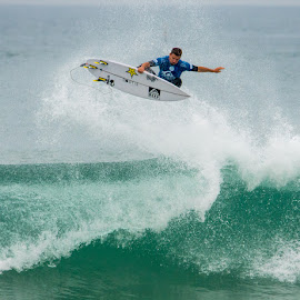 Sky High by Patrick Warren - Sports & Fitness Surfing ( sky, surfing, surfer, wave, air, france, beach )