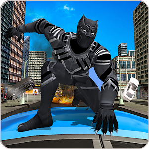 Panther Super Hero Crime City Battle