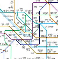 Screenshot of Seoul Metro Map