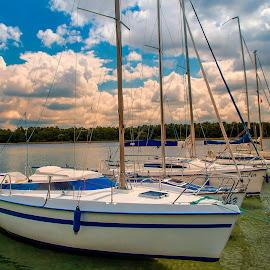 przystań by Tomasz Marciniak - Transportation Boats ( summer, lake, marina, sailing boats )