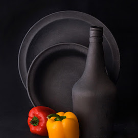 Still life with bell pepper by Rakesh Syal - Artistic Objects Still Life