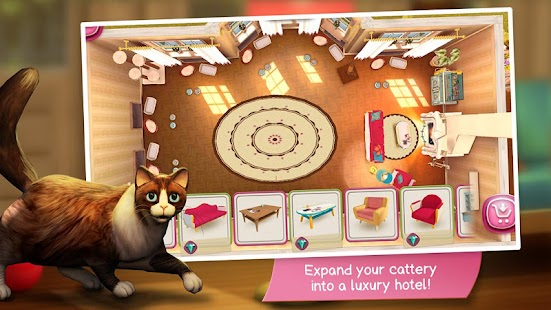 Game CatHotel - Hotel for cute cats apk for kindle fire