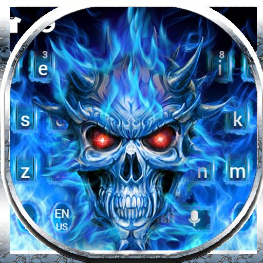 Flaming Skull Keyboard Theme (app)