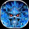 Free Flaming Skull Keyboard Theme APK for Windows 8