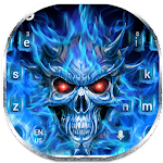 Flaming Skull Keyboard Theme Icon
