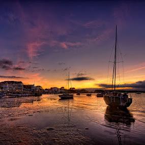 by Pawel Tomaszewicz - Landscapes Travel ( uk, poole, england, hdr, waterscape, sunset, sunrise, landscape, boat, dorset )
