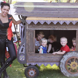 Wagon ride by Jeffrey  Thur - Babies & Children Children Candids ( wagon, summer, festival, fun, kids )