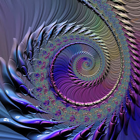 Coiled by Amanda Moore - Illustration Abstract & Patterns ( spirals, fractal art, mandelbrot, spiral, fractal, fractals )