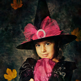 Want apples? by Nicu Buculei - Babies & Children Child Portraits ( creepy, girl, fairy tale, witch, play, children, costume, kids,  )