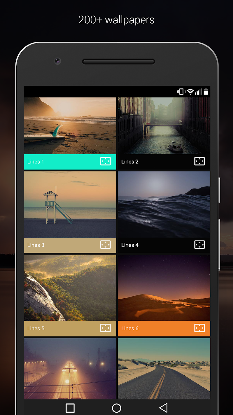 Lines - Icon Pack (Pro Version) Screenshot 2
