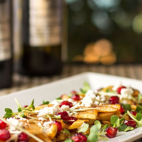 Roasted Fennel Salad with Cranberry Balsamic
