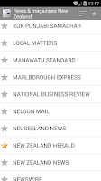 Screenshot of Newspapers from New Zealand