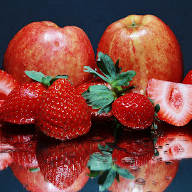 Apples and Strawberries by Peter Salmon - Food & Drink Fruits & Vegetables
