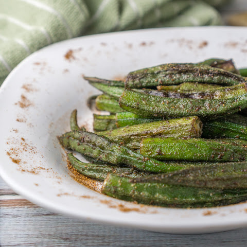 Roasted Cajun Okra