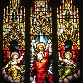 Stained Glass, Saint Michael's Cathedral, Toronto by Carl VanderWouden - Artistic Objects Glass