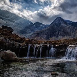 Fairy Pools of Glen Brittle - April 2015.jpg by Derek Souter - Landscapes Cloud Formations