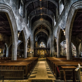The Cathedral of St. Nicholas by Adam Lang - Buildings & Architecture Places of Worship ( religion, church, pews, st. nicholas, newcastle, cathedral )
