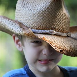 Cowboy by Danny Stankiewicz - Babies & Children Child Portraits ( child, face, cowboy, eye, hat )
